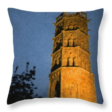 Throw Pillow featuring the photograph Church Steeple by Jean Bernard Roussilhe