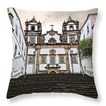 Throw Pillow featuring the photograph Church Steps by Kim Wilson