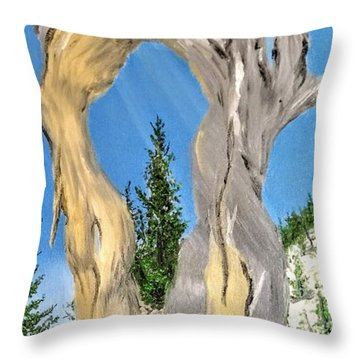 Throw Pillow featuring the painting Church Window by Kevin Daly