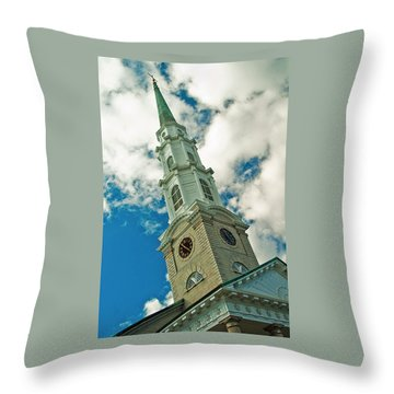 Churche Steeple Throw Pillow