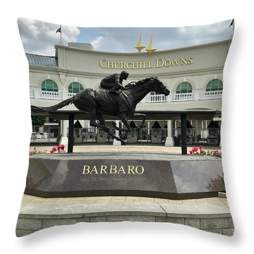 Churchill Downs Barbaro 2 Throw Pillow