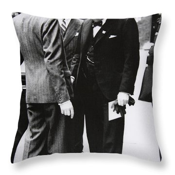 Churchill Leaves Downing Street To Take King George Vi A Letter From The Us President, 1941 Throw Pillow
