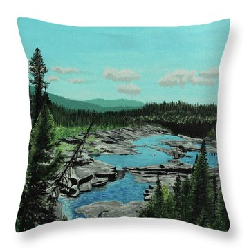 Churchill River Throw Pillow