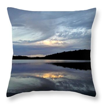 Throw Pillow featuring the photograph Churning Clouds At Sunrise by Chris Berry