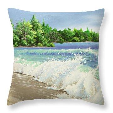 Churning Sand  Throw Pillow
