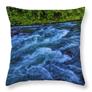 Throw Pillow featuring the photograph Churning Water by Jonny D