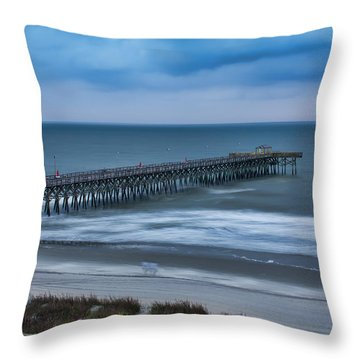Churning Waves Throw Pillow