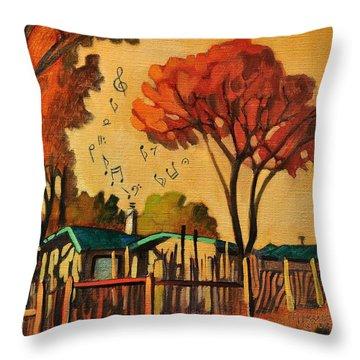 Cia's Music House Throw Pillow