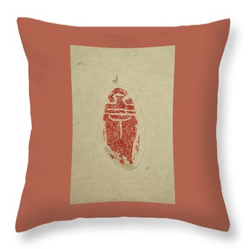 Throw Pillow featuring the painting Cicada Chop by Debbi Saccomanno Chan