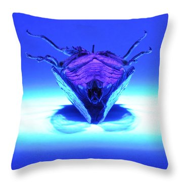 Cicada In Uv Throw Pillow