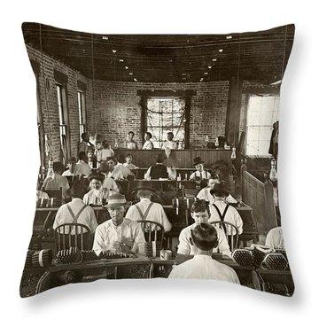 Cigar Factory, 1909 Throw Pillow by Granger