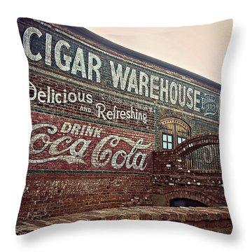 Cigar Warehouse Greenville Sc Throw Pillow