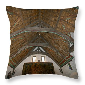 Ceiling In Hall Of Vicars Choral At Rock Of Cashel Throw Pillow
