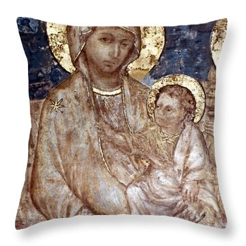 Cimabue: Madonna Throw Pillow by Granger