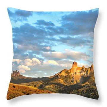 Cimarron Sunset In Autumn Throw Pillow