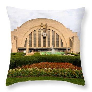 Cincinnati Museum Center At Union Terminal Throw Pillow by Paul Velgos
