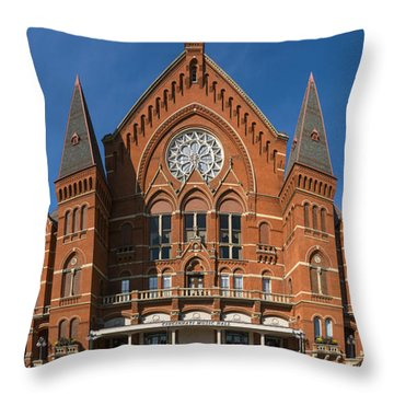 Cincinnati Music Hall Throw Pillow by Rob Amend