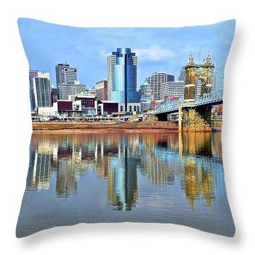 Cincinnati Ohio Times Two Throw Pillow