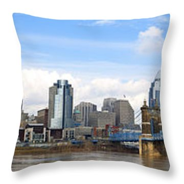 Cincinnati Panorama Throw Pillow