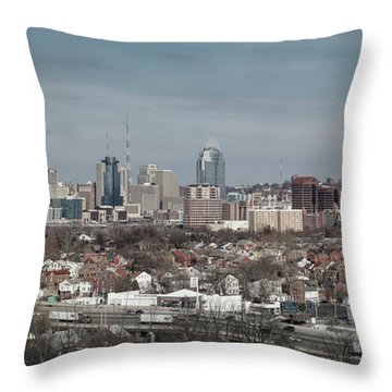 Cincinnati Panorama  Throw Pillow by Scott Meyer