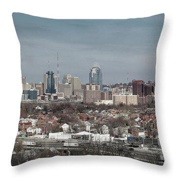 Cincinnati Panorama  Throw Pillow