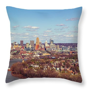 Cincinnati Skyline 2 Throw Pillow by Scott Meyer