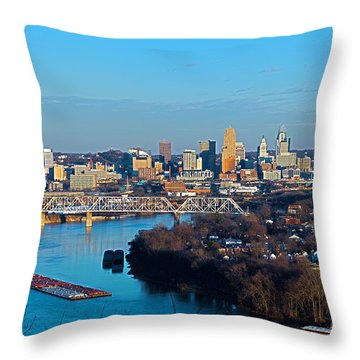 Cincinnati View From The West Throw Pillow