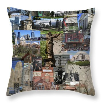 Cincinnati's Favorite Landmarks Throw Pillow by Robert Glover