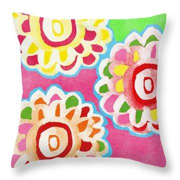 Fiesta Floral 2 Throw Pillow
