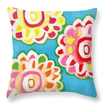Fiesta Floral 1 Throw Pillow