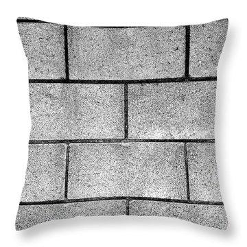 Cinder Block Wall Throw Pillow by Jera Sky