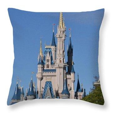 Cinderella's Castle Throw Pillow by Carol  Bradley