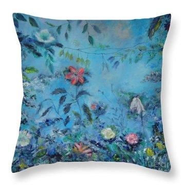 Cinderellas Garden Throw Pillow
