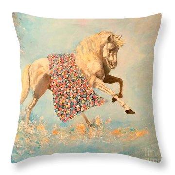 Cinderellas Unicorn Throw Pillow
