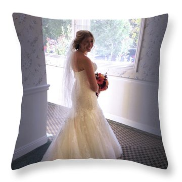 Cindy Sue Gets Married Throw Pillow
