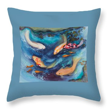 Cindy's Treasures Throw Pillow by Bonnie Rabert