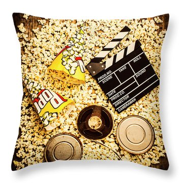 Cinema Of Entertainment Throw Pillow