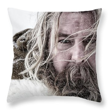 Cinematic Portrait Throw Pillow