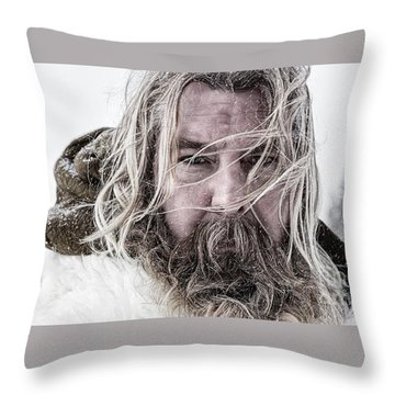 Cinematic Portrait Throw Pillow