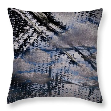 Throw Pillow featuring the mixed media Cinereal by Lita Kelley