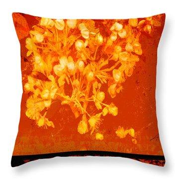 Cinnabar Iv Throw Pillow by Ann Powell