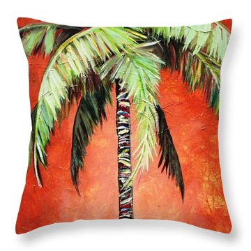 Cinnamon Palm Throw Pillow