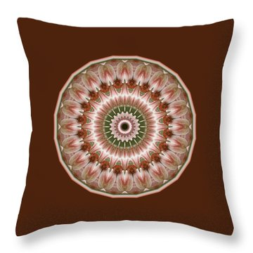 Cinnamon Roses And Thorns Throw Pillow