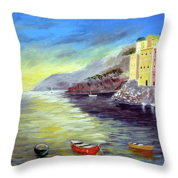 Cinque Terre Dreams Throw Pillow