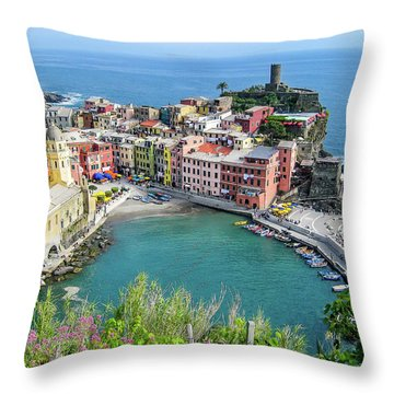 Cinque Terre Throw Pillow