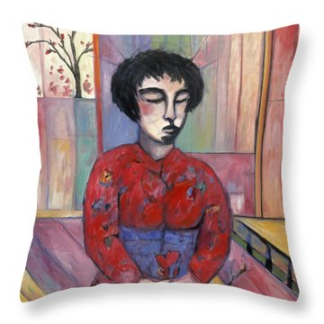Cio Cio San Throw Pillow