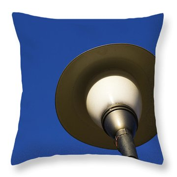 Circle And Blues Throw Pillow by Prakash Ghai