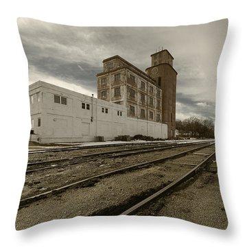 Circle B Feeds Concordia Kansas Throw Pillow
