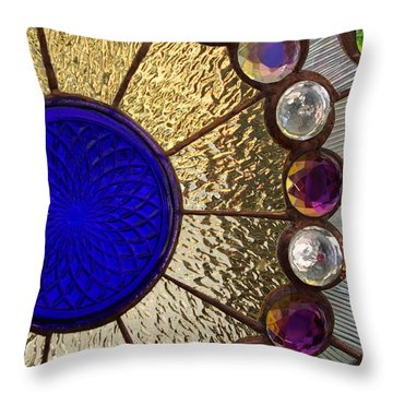 Circle Central Throw Pillow by Linda Mishler