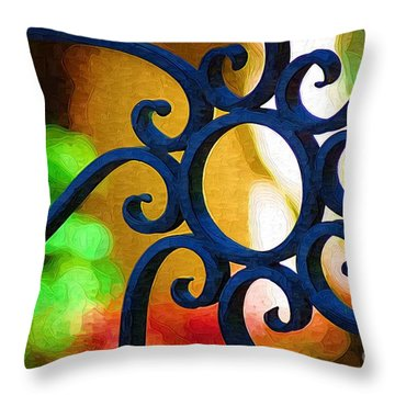 Circle Design On Iron Gate Throw Pillow